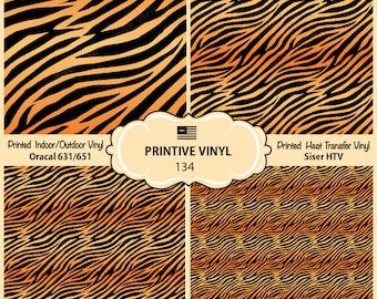 Tiger Stripes Printed Pattern Vinyl/Siser HTV/ Oracal/ Indoor Vinyl/ Outdoor Vinyl/ Heat Transfer Vinyl- 134