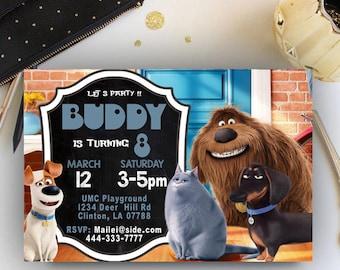 Secret Life of Pets Invitation, Secret Life of Pets Party, Secret Life of Pets Birthday, Secret Life of Pets Birthday Invitation