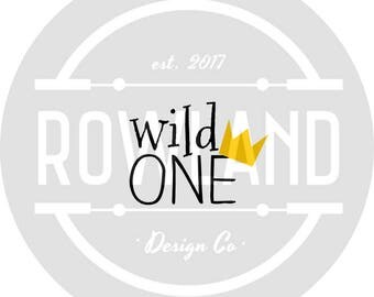 SVG file -Wild One Decal for Teachers, Crafts, DIY and Cricut,Elements