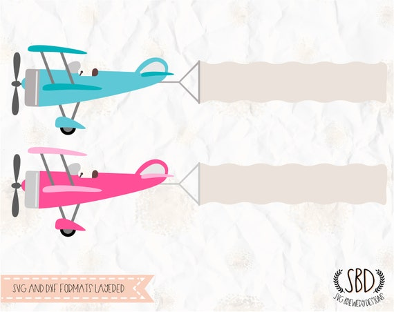 Airplane Aeroplane With Banner Svg Layered Png Dxf