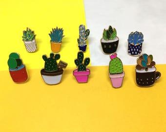 Cactus Crazy Enamel Pin