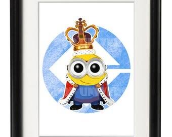 King Bob Minion Digital Download Print, Pop Minion Art