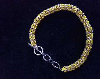 Pink and yellow persian bracelet