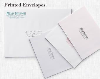 100 Printed Envelopes Custom Design