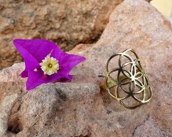 Flower of life Ring / Ring flower of life