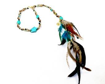 Turquoise Magnesite Crystal Headband