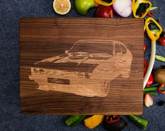 Classic Vintage Retro Ford Capri Car Cutting Board,Wood Wall Art Decal,Personalized Engrave Gift,Cars Wood Cutting Board,Bamboo Board Print