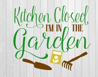 Kitchen Closed Vinyl Decal, Kitchen decal, Garden decal, Gardening, wall art, wall decal, wall sticker