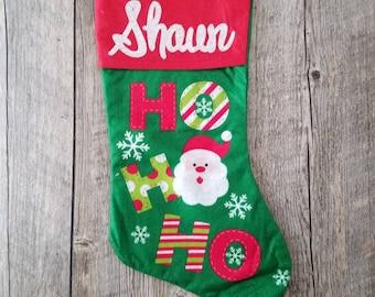 Peraonalized Christmas Stocking, Christmas stocking, santa Christmas stocking