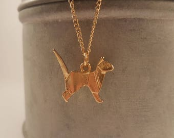 Origami Cat Necklace, cat jewellery, pet jewellery, unique necklace, gift for cat lovers