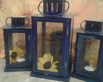 Personalized Wedding lanterns set of three