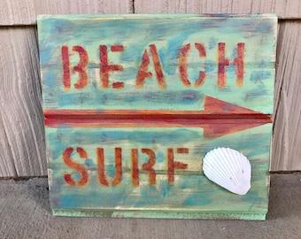 Beach Surf Sign