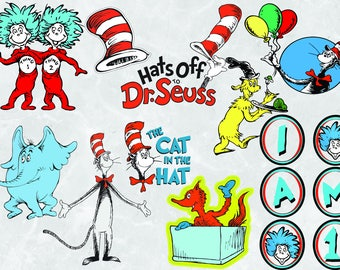 Dr. Seuss 10 ClipArts | Dr. Seuss  Svg | Dr. Seuss vectors | Dr. Seuss |