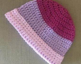 Handmade summer stripes baby hat