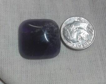 Large Amethyst gemstone bead/cabochon..20mm