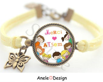 Bracelet gift for school - pencil yellow star heart romantic boy girl