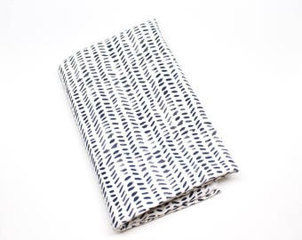 Black and White Dash Dots Swaddle Blanket