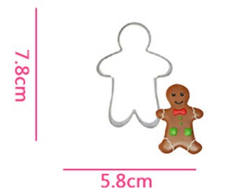 Gingerbread Man Cookie Cutter- Fondant Biscuit Mold - Pastry Baking Tool Set