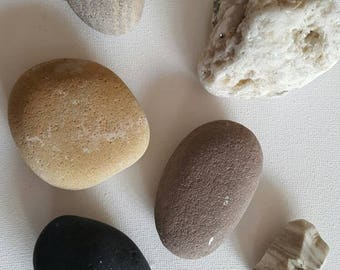 Assortment of unusual rocks stones pebbles from a welsh beach various styles and sizes great for craft or decrotive purposes