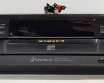 Sony CDP-CE335 5 CD Changer Carousel Player With Cables 1990s