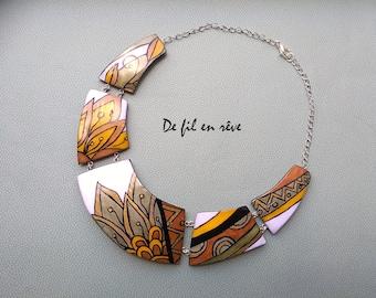 Handmade polymer paste Necklace (C48)