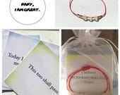 Fertility & Babyloss Mindfulness Cards with Hope Bracelet (Affirmation/Encouragement/Miscarriage Healing Cards, Fertility/Hope Bracelet)