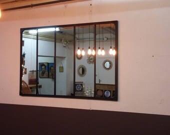 table de salle manger xxl style industriel pied en acier. Black Bedroom Furniture Sets. Home Design Ideas