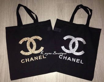 Chanel shopping/beach bag