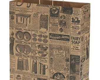 25 Jumbo Newsprint Paper Shopper 16 x 6 x 19 Inches