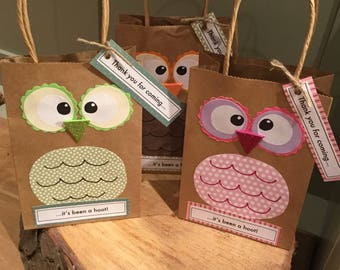 Owl Party Favour Bags