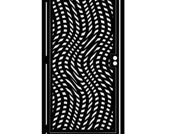 Artistic Metal Gate - Decorative Steel - Steel Panel Art - Unique Gate - Metal Art - Wave