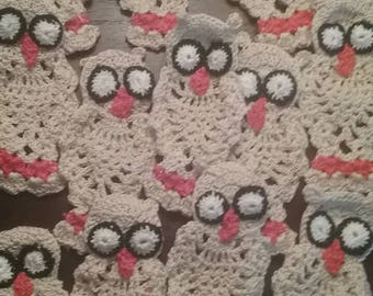 Bakers dozen crochet owl ornament