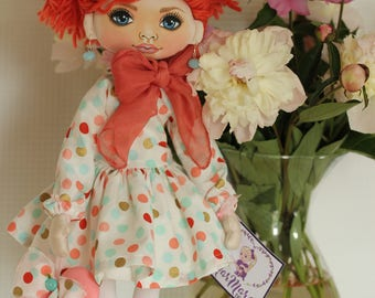Beautiful doll Handmade doll Art doll Interior doll Home decoration Christmas present Personalized doll Doll for girl