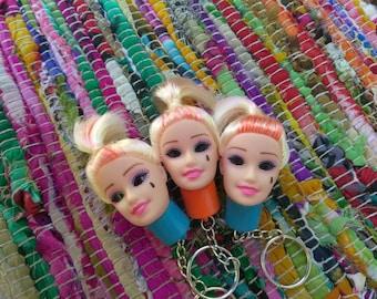 Goth Barbie Head LED Keychain