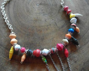 Beadforlife necklace with multicolor kralenmix