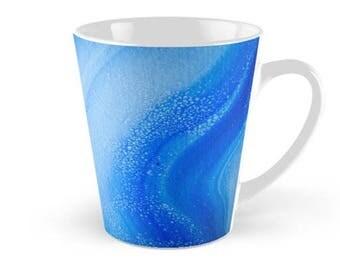 Original Art Print Coffee Tea Mug Cup - Ocean Waves. Custom Order. Pre Order.