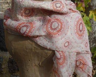 felted silk chiffon scarf shawl