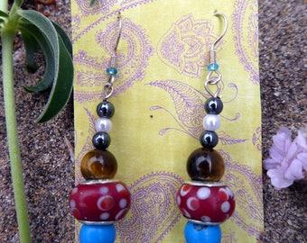 Dingle glass bead earrings