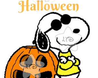 Happy Halloween Snoopy Iron On Transfer