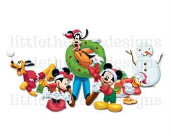 Mickey and The Gang Christmas Transfer,Digital Transfer,Digital Iron Ons,DIY