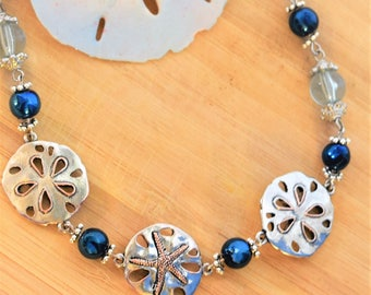 2 Sand Dollars and a Sea Star Necklace