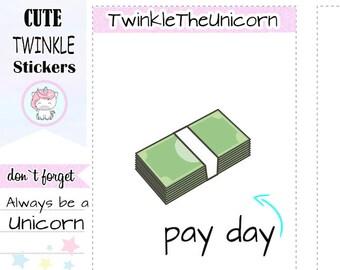 A097 |  dollar stickers,pay bills stickers,payday stickers,money stickers,no spend stickers,no money,planner clipart,kawaii clipart,kawaii