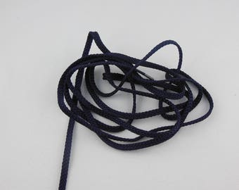 Navy color rayon braided cord