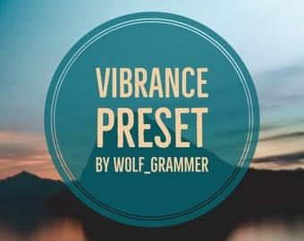 "Lightroom Preset ""Vibrance preset"" by wolf_grammer"