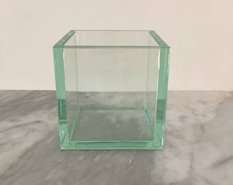 Clear Glass Cube Vase/Planter