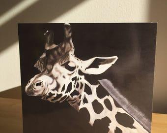 Greeting card - giraffe