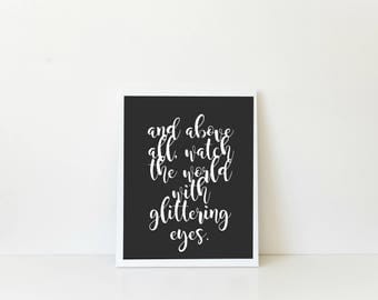 Glittering Eyes | DIGITAL print | INSTANT DOWNLOAD