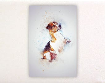 Dog - Watercolor prints, watercolor posters, nursery decor, nursery wall art, wall decor, wall prints 1 | Tropparoba - 100% made in Italy