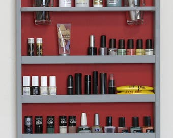 Wall Mounted Makeup Organizer- Nail Polish Rack -Beauty Station - Bathroom Storage-Lipstick Organizer-makeup organizer
