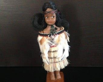 Vintage Maori Doll, New Zealand